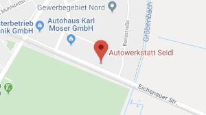Google Maps Ausschnitt Lageplan Gewerbegebiet Nord Puchheim